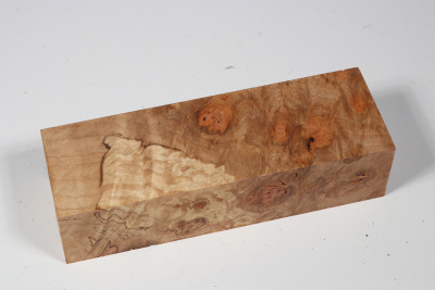 Knife Block Maple Burl - AhoM0261