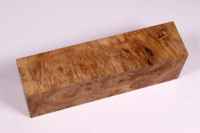 Knife Block Maple Burl - AhoM0270