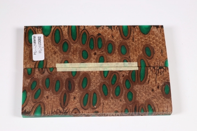 Knife Scales Banksia green - Hybrid0082