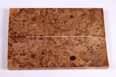 Knife Scales Linden Tree Burl stabilized - Stabi1961