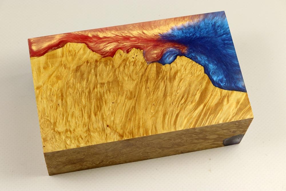 Box Mod Blank Hybridwood Box Elder Maple Burl Stabilized