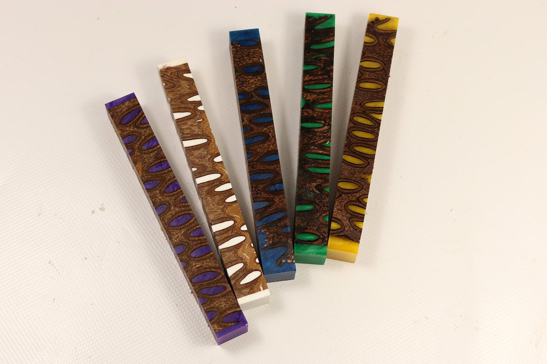 Pen Blank Banksia Verschiedene Farben Klein Feines Holz