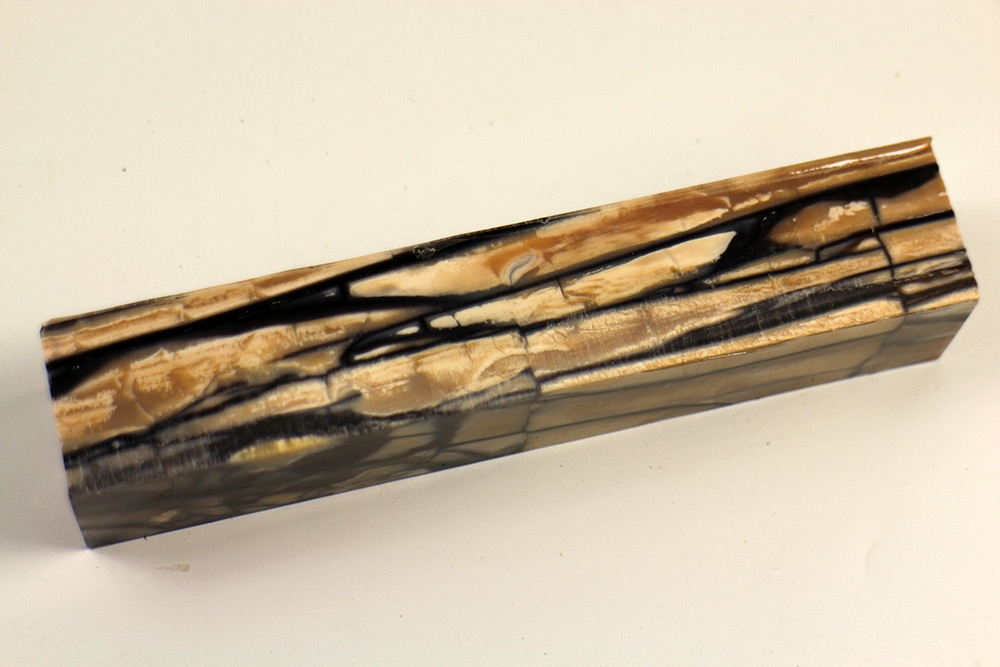 Stabilized mammoth ivory as knife handle and Pen Blank avaiable!