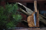 Kitchen Knife with stand from Olivewood - Holger Müller