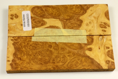 Knife Scales White Mallee Burl - WhiMaM0033