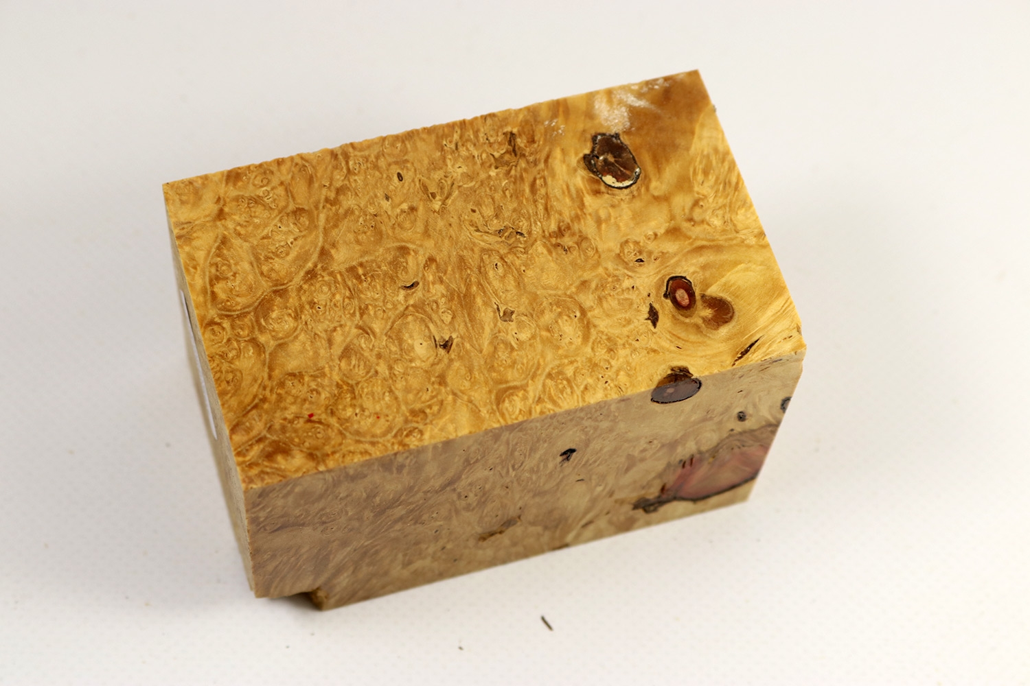Block box elder maple burl stabilized mm